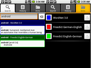 Adding custom dictionaries to ColorDict, a StarDict app on Android