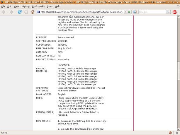 HP Website screenshot